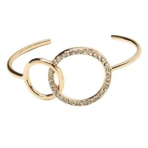 Banana Republic gold and pave bracelet